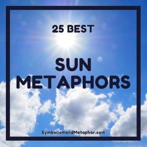 sun metaphors and adjectives